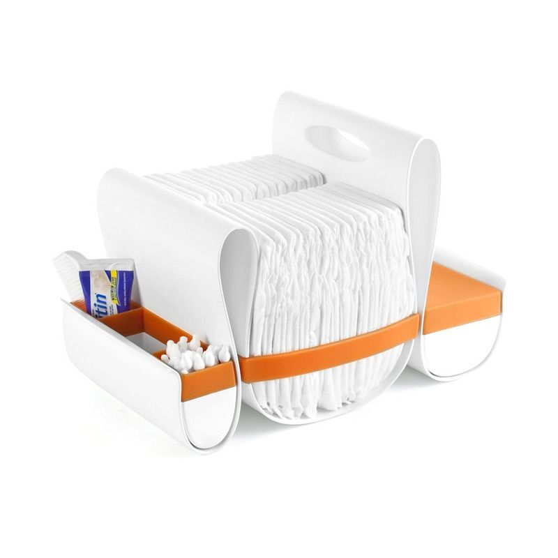 Boon Loop Diaper Caddy (Orange-White) Tempat Popok