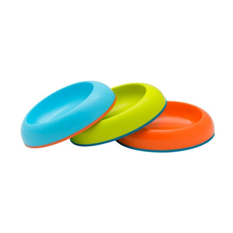 Boon Dish Edgeless Stay Put Bowl Blue - Orange - Green