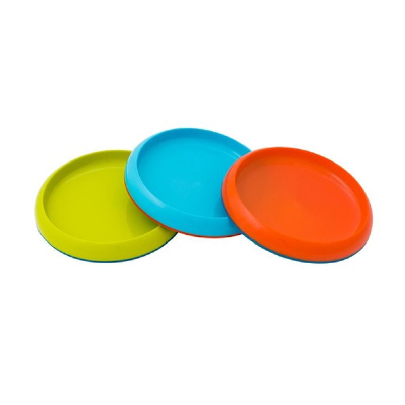 Boon Plate 3PK Green - Blue - Orange