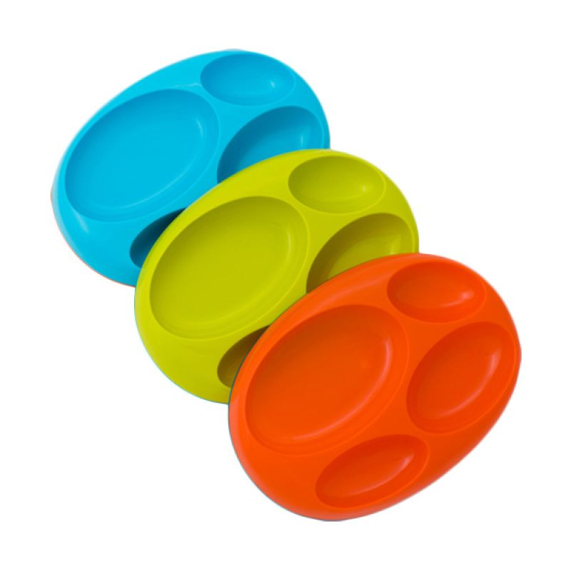 Boon Platter Divided Plate 3 Pack Boy