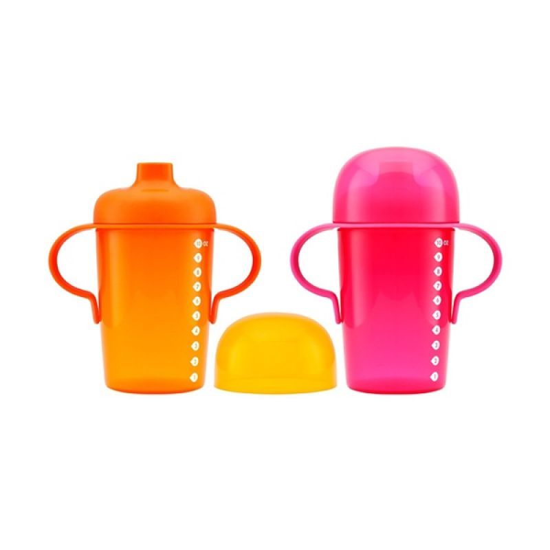 Boon Sip Sippy Cup Pink and Orange Cangkir Anak [10 oz/2 pcs]