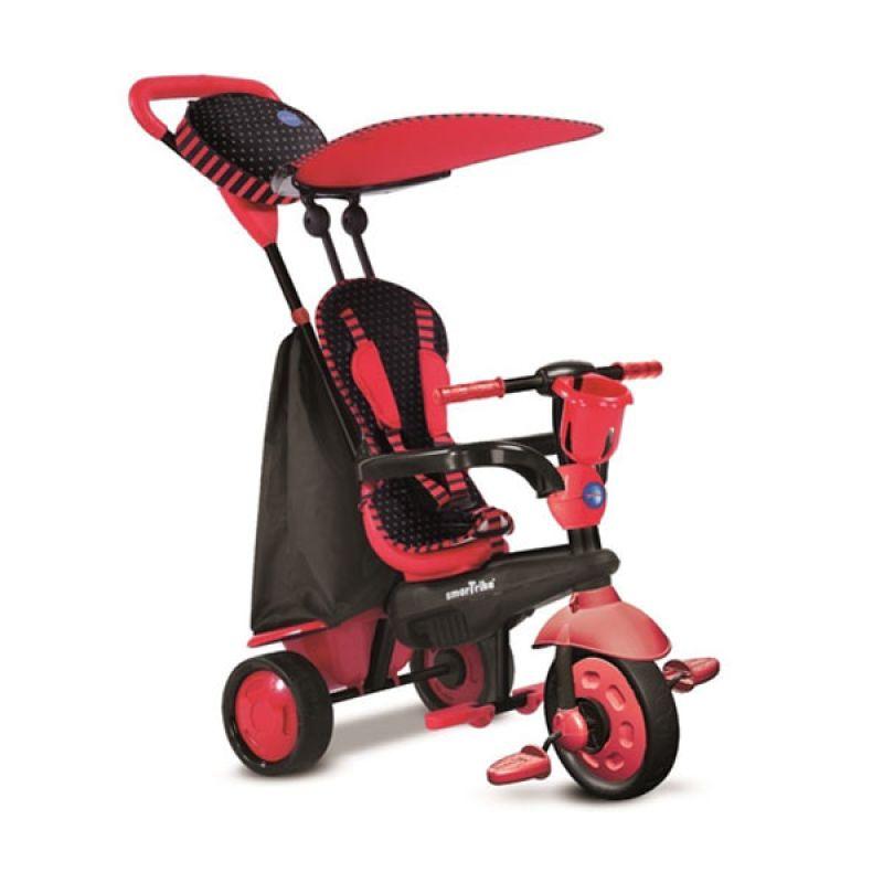 Smart Trike Spark Red Multifunction Tricycle Sepeda Anak