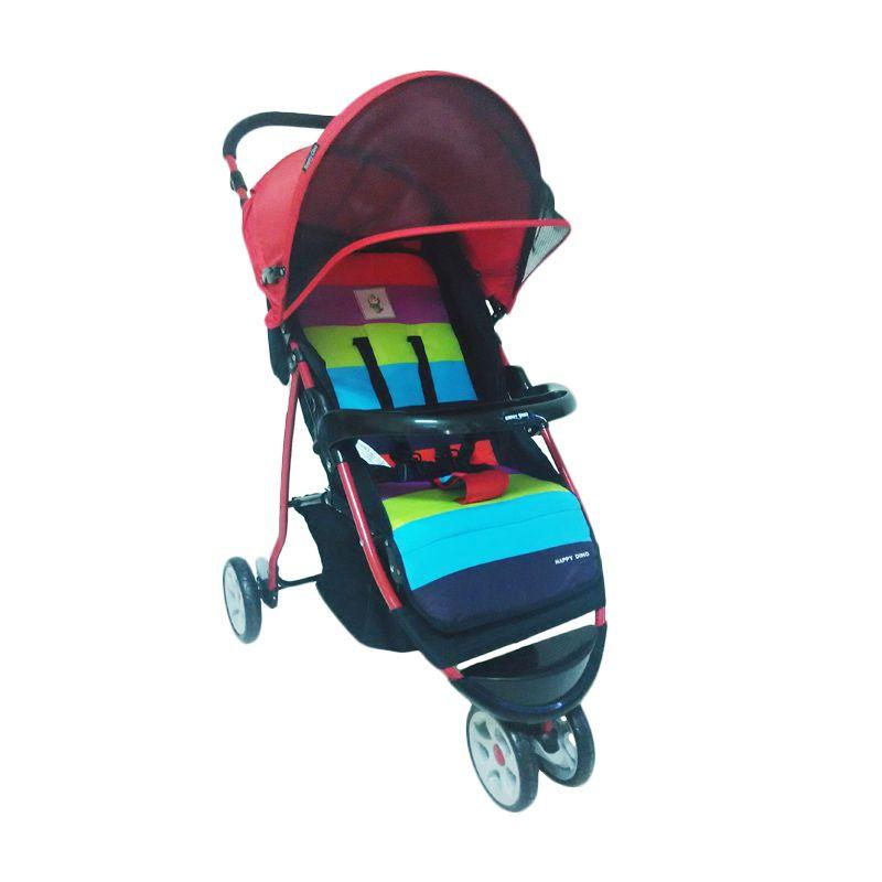 BabyDoes Happy Dino LC 200H Merah Kereta Dorong Bayi
