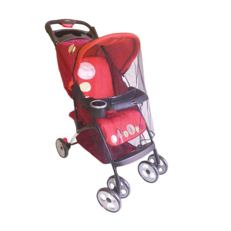 BabyDoes Skyline CH 405 Merah Kereta Dorong Bayi