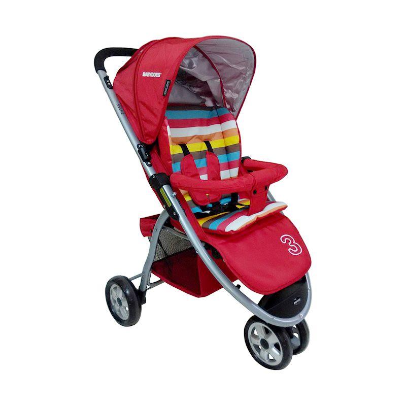 CH Three 463 Merah Kereta Dorong Bayi