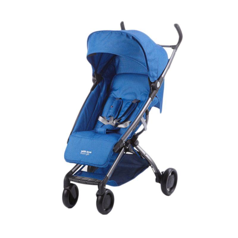 GB Q Fold 008 Biru Kereta Dorong Bayi