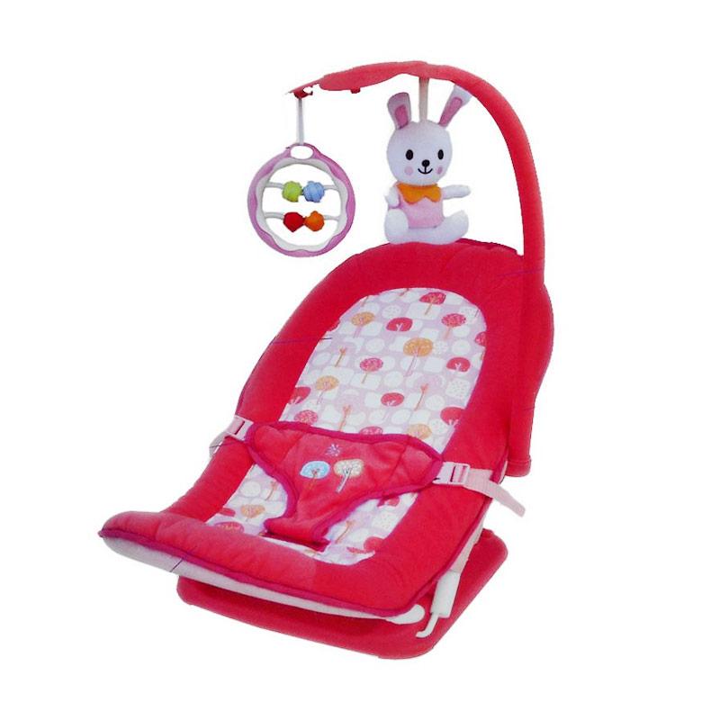 Baby Elle Fold Up Infant Seat Pink Tempat Tidur Bayi