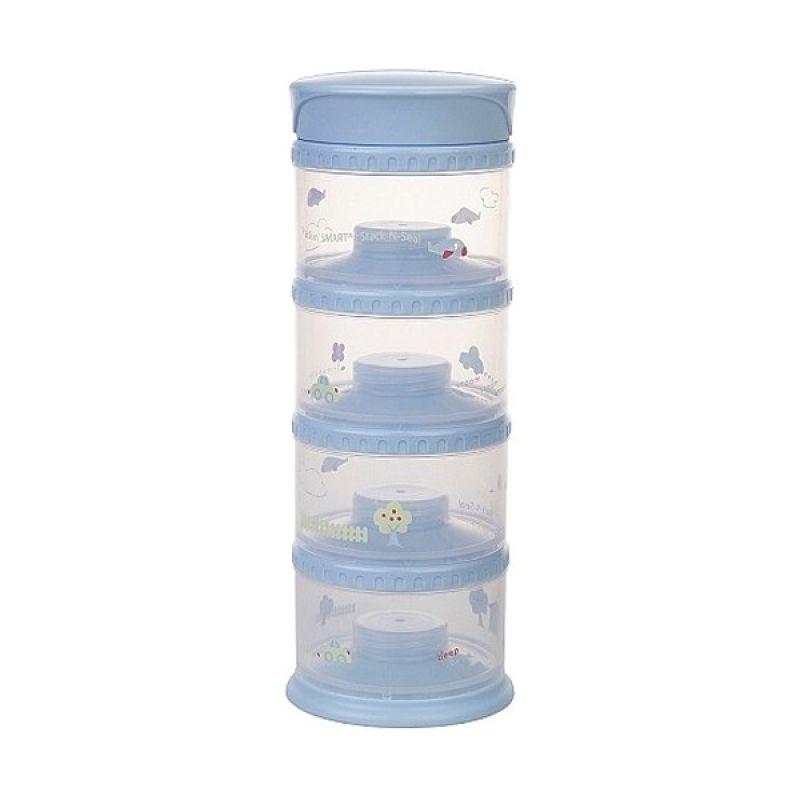 Innobaby - Packin SMART Stack-N-Seal 4 Tier Set Blue - Tempat Susu Bubuk