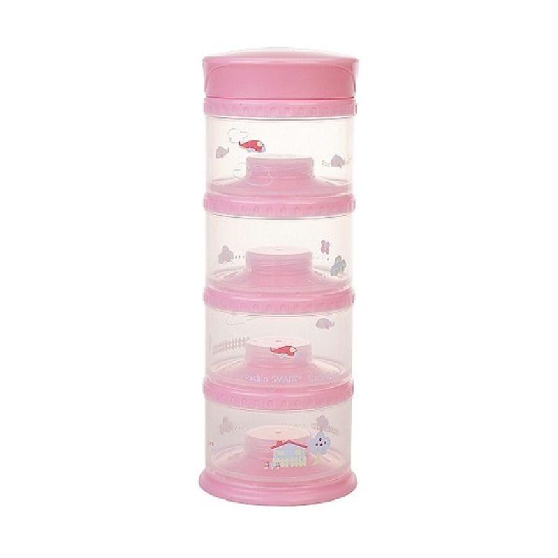 Innobaby - Packin SMART Stack-N-Seal 4 Tier Set Pink