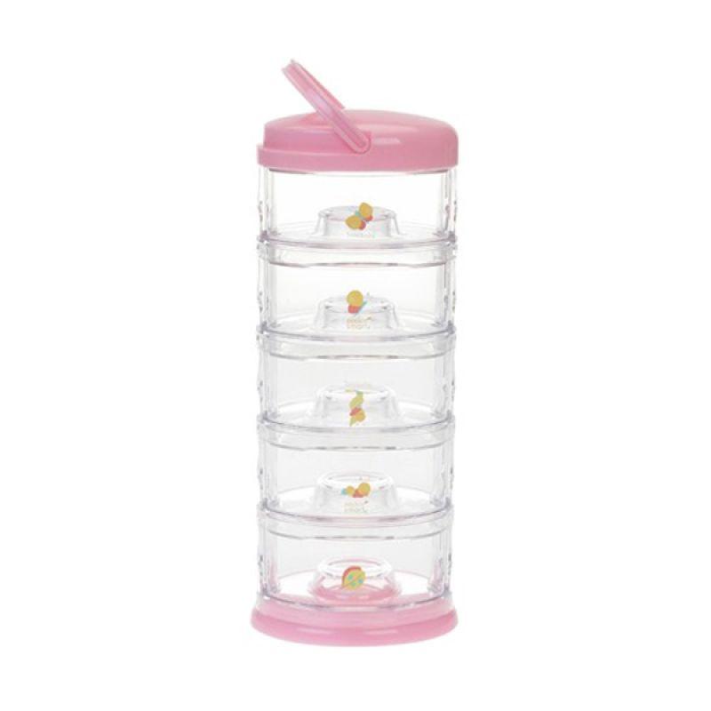 Innobaby - Packin SMART Stack-N-Seal 5 Tier Set Butterfly Pink Bubblegum