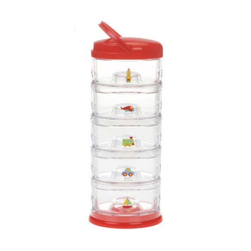 Innobaby - Packin SMART Stack-N-Seal 5 Tier Set Transportation Red