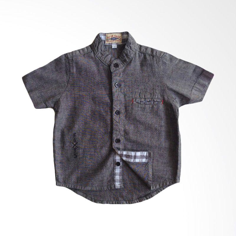 Baby Feits Hidden Pocket Black Kemeja Anak Laki-Laki