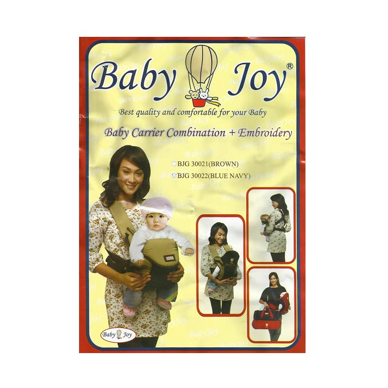 Jual Baby Joy Ransel Dwi Fungsi Kombinasi Aplikasi Bordir BJG300200 Cokelat Gendongan Bayi Online - Harga