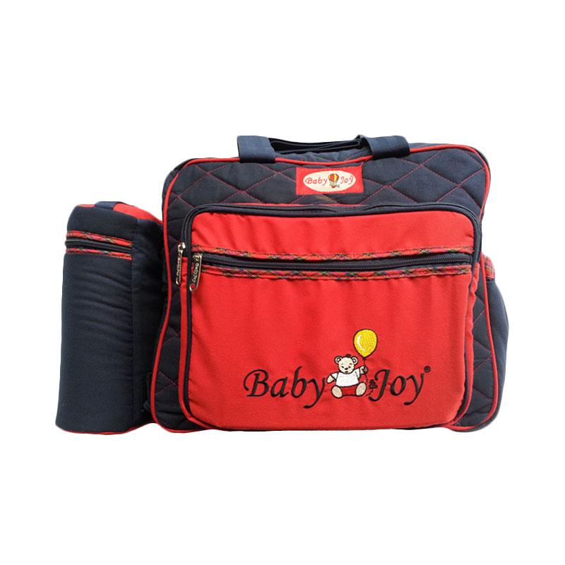 harga Baby Joy Besar Saku Bordir & Tempat Botol Susu Double Navy BJT100300 Red Tas Bayi Blibli.com