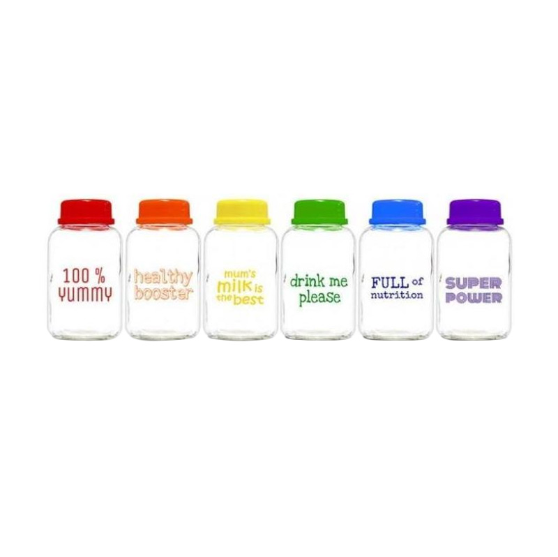 Baby Pax Rainbow Botol ASI Kaca [Isi 6 x 150 mL]
