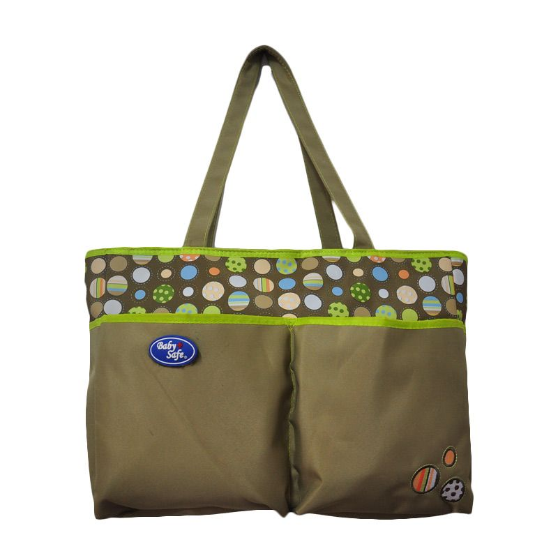 Baby Safe Double Pocket Green Tas Bayi