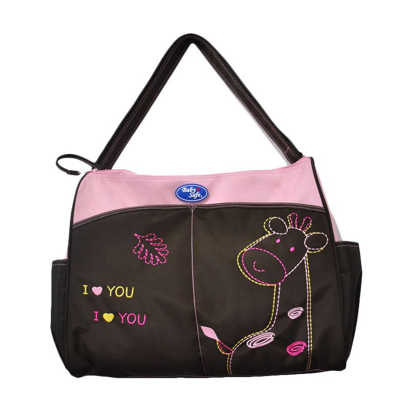 Baby Safe Double Zipper Pink Tas Bayi