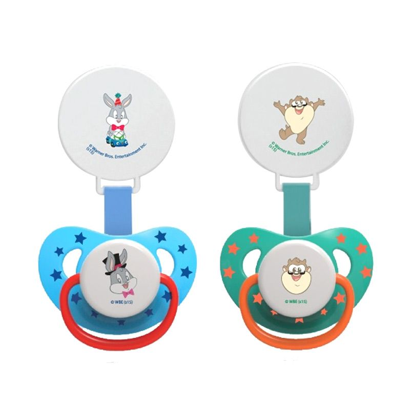 Baby Safe Pacifier Blue or Green Dot Bayi