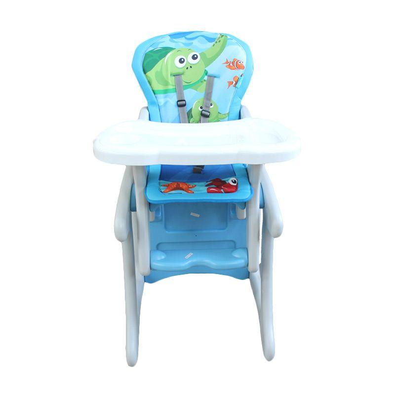 Baby Safe Turtle HC01A Blue Kursi Makan Bayi