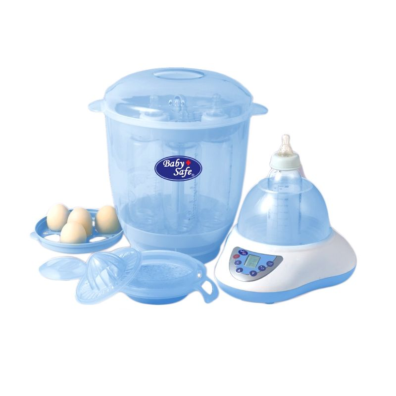VISA DEAL - BabySafe Digital Multifunction Bottle Sterilizer LB 802 Blue Alat Sterilisasi Botol