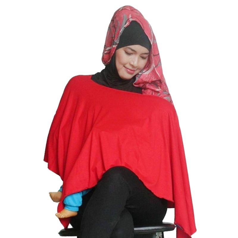 Hanaroo 2in1 Nursing Cover Multifungsi Merah Tudung Menyusui