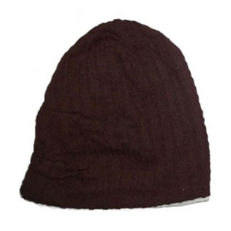 MJ Kupluk Bolak Balik Coklat Abu-Abu Topi Anak