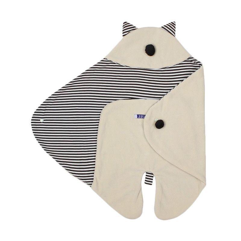 Spunky Kids Cute Animal Blanket Coklat Muda Sleeping Bag Bayi
