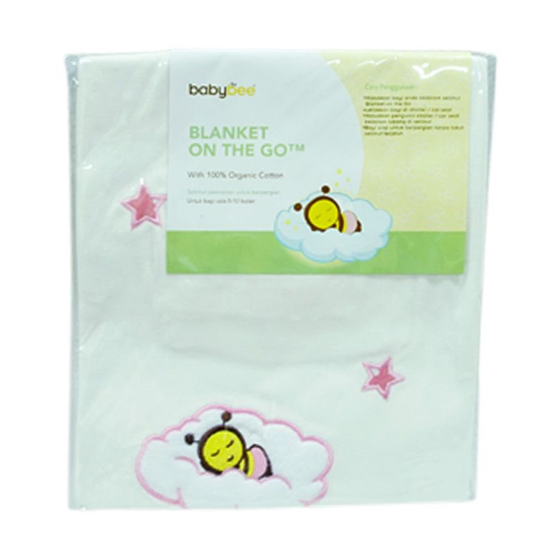 Babybee Blanket On The Go Pink Selimut Bayi