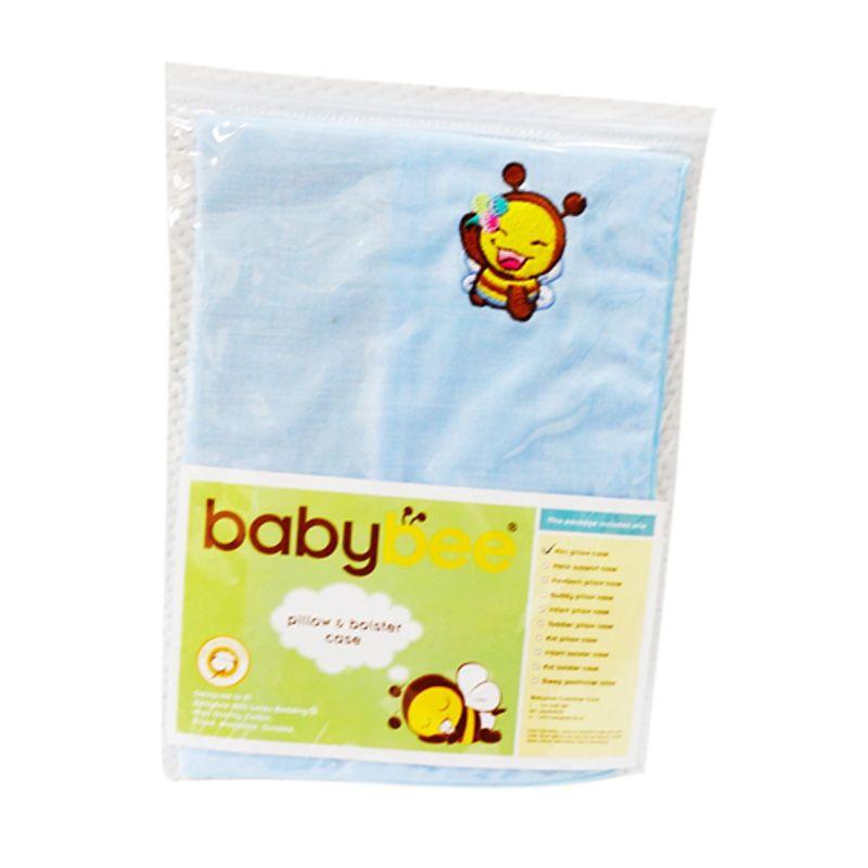 Babybee Infant Bolster Case Blue Sarung Guling Bayi
