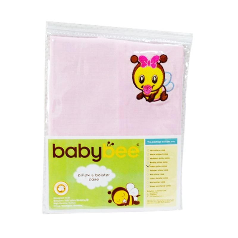 Babybee Infant Bolster Case Pink Sarung Guling Bayi