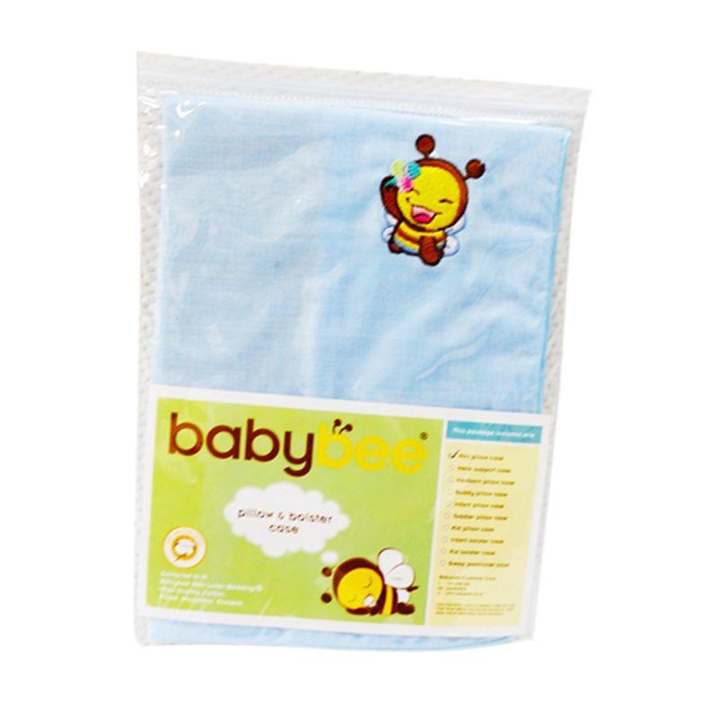 Babybee Case Mini Pillow Blue Sarung Bantal Bayi