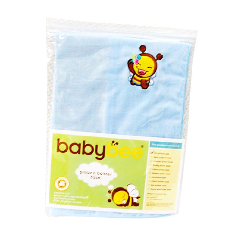 Babybee Case Toddler Pillow Blue Sarung Bantal Bayi