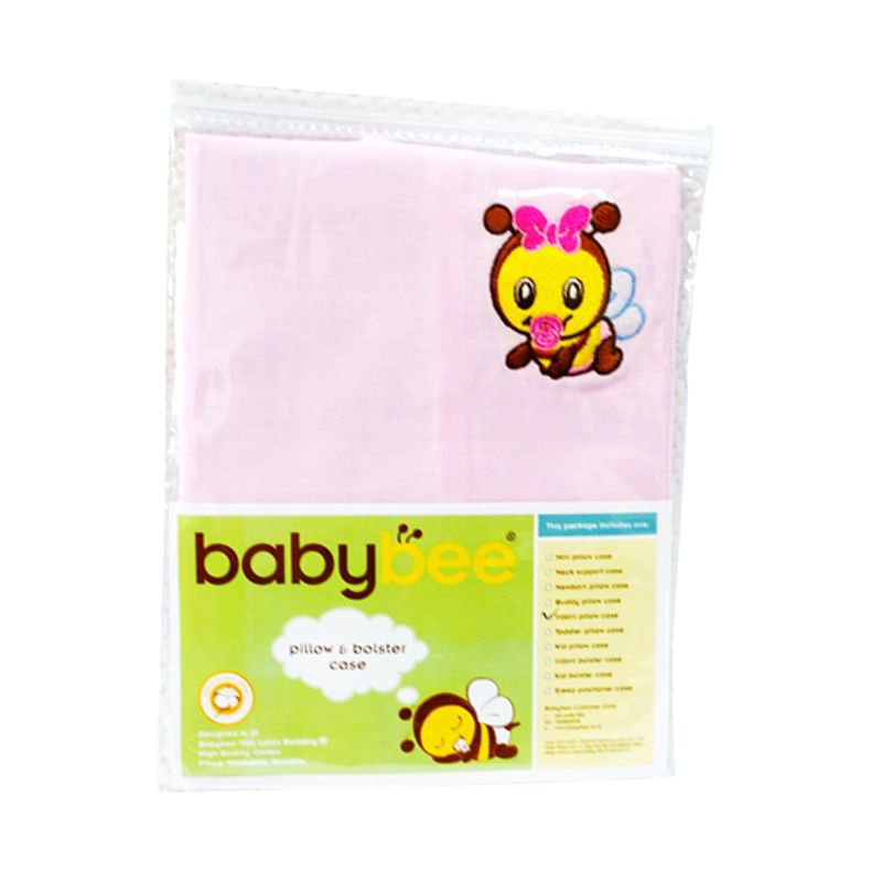 Babybee Case Toddler Pillow Pink Sarung Bantal Bayi