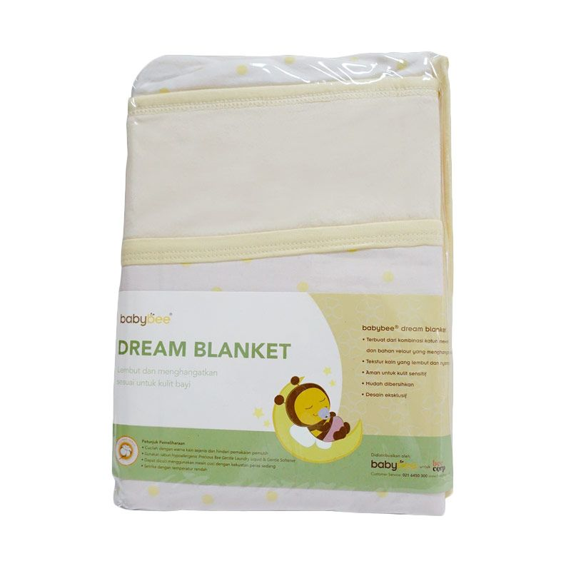 Babybee Dream Blanket - Polka Yellow