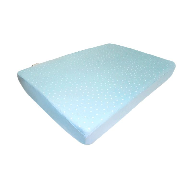 Babybee Fitted Sheet Full Polkadot Blue Sprei [120 x 70 cm]
