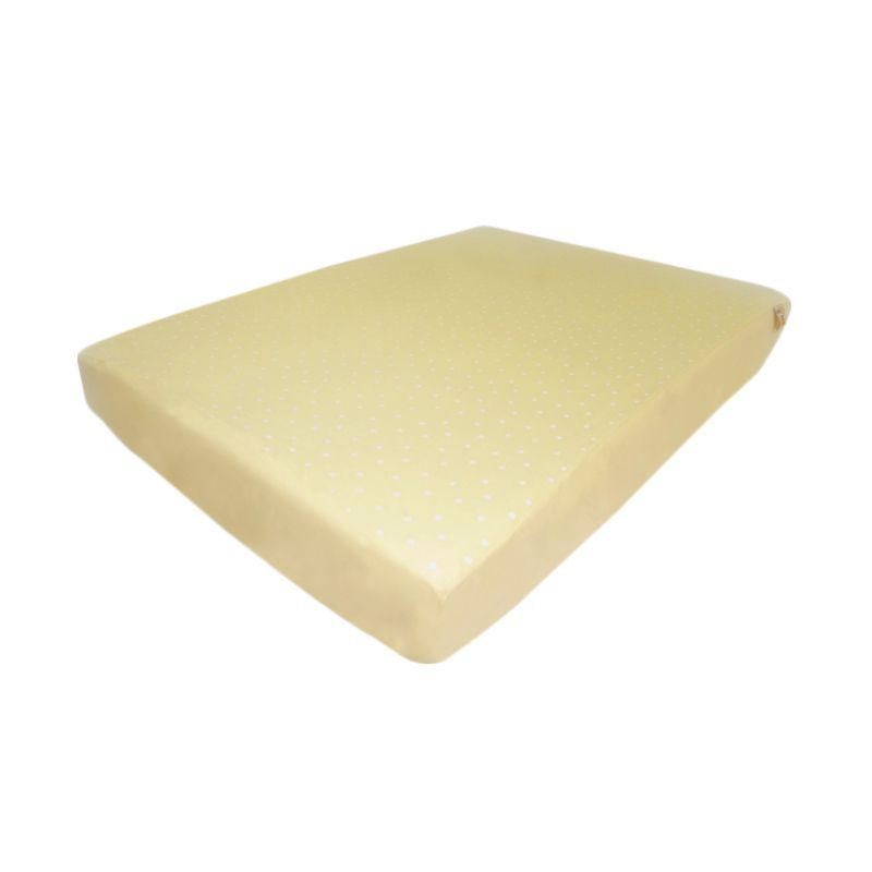 Babybee Fitted Sheet Full Polkadot Cream Sprei [150 x 90 cm]