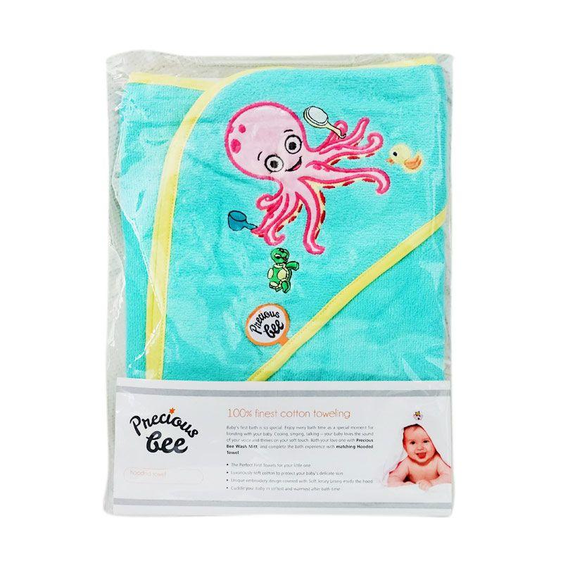 Babybee Summer Turquoise Hooded Towel