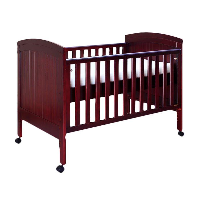 Babybelle - Angela Panel Crib Coffee Brown [ Khusus Area Jabodetabek ]