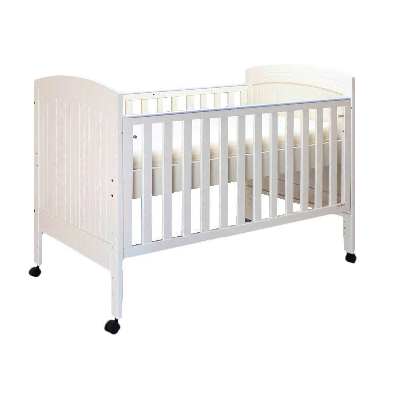 Babybelle - Angela Panel Crib Ivory [ Khusus Area Jabodetabek ]