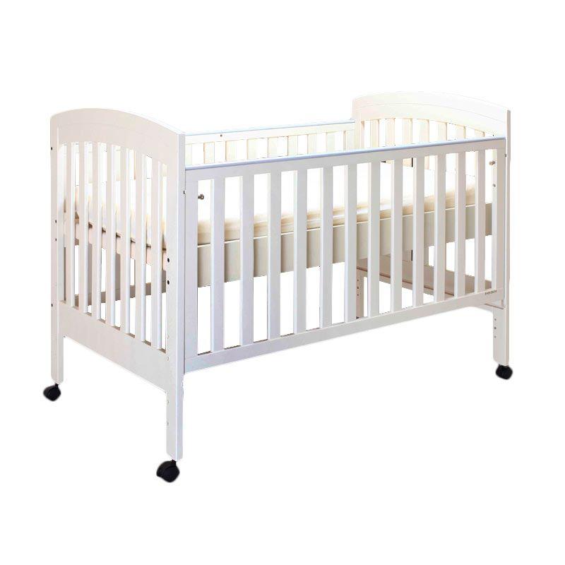 Babybelle - Angela Slat Crib Ivory [ Khusus Area Jabodetabek ]