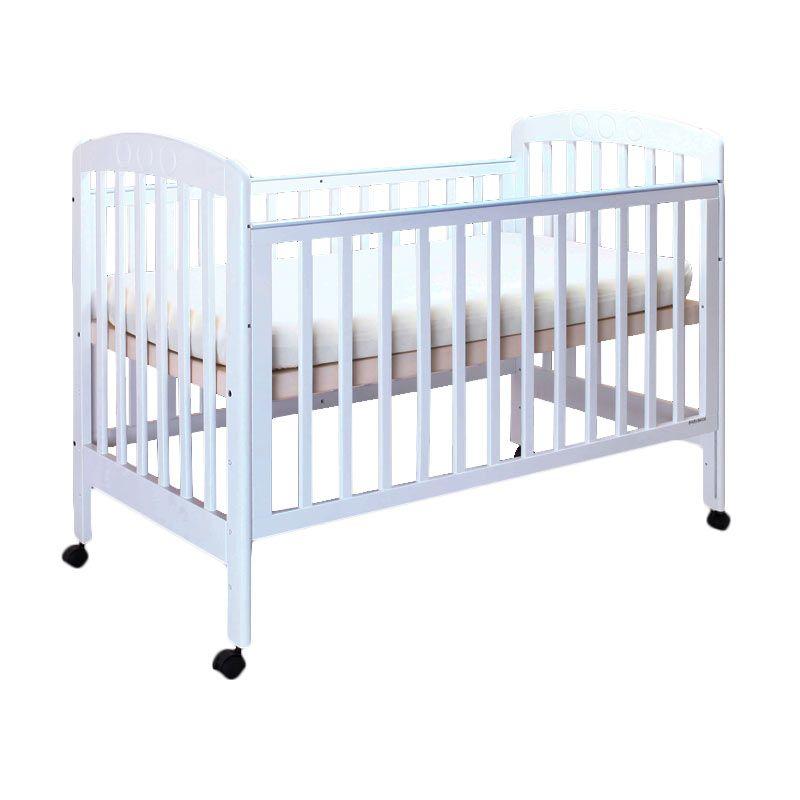Babybelle - Chelsea Crib Off White [ Khusus Area Jabodetabek ]