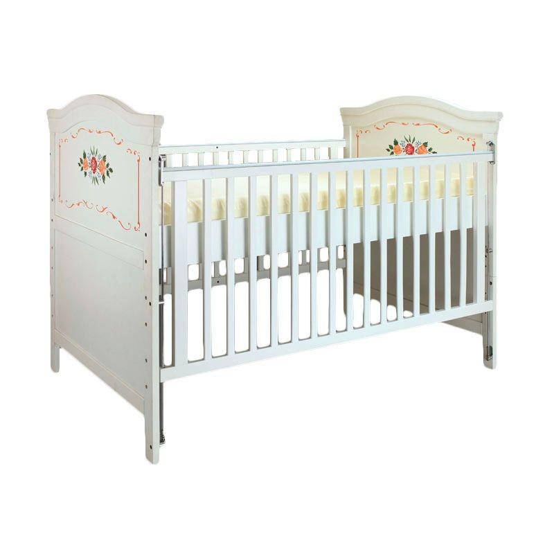 Babybelle - Kathryn Crib Off White Lukis [ Khusus Area Jabodetabek ]