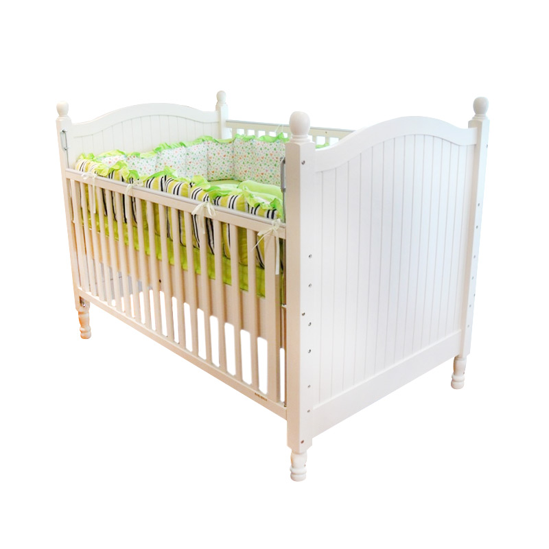 Babybelle Middleton Crib White [Khusus Area Jabodetabek]