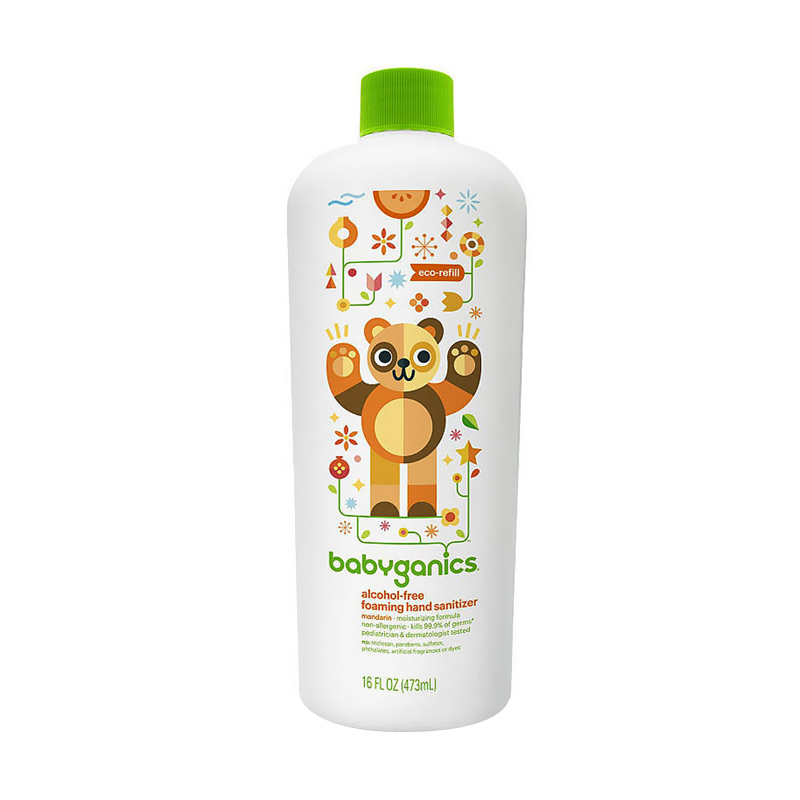 BabyGanics Foaming Mandarin Refill Hand Sanitizer [473 mL]
