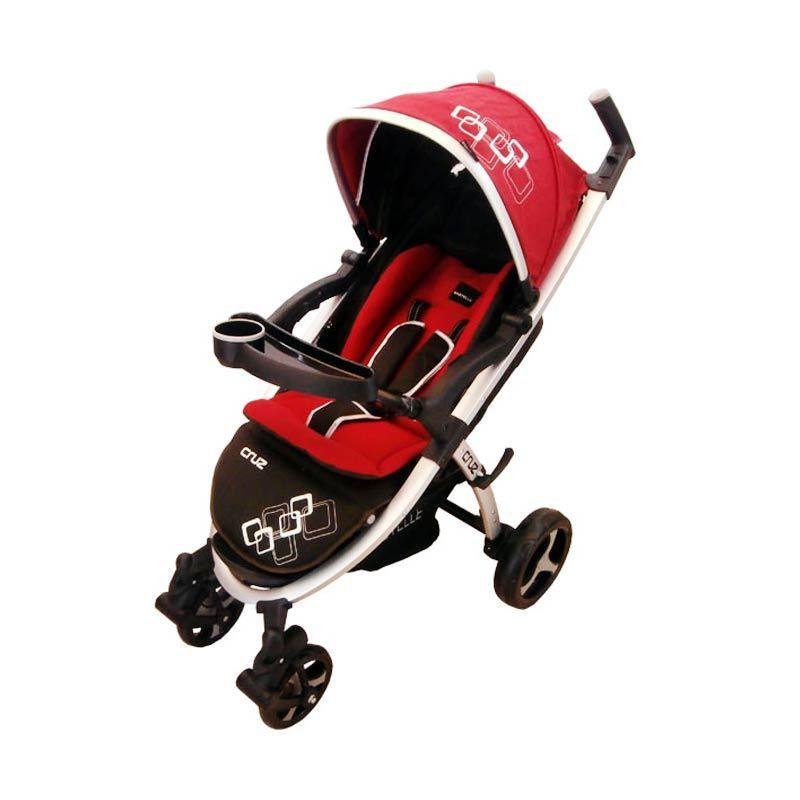 Babyelle Cruz TS Infant Carseat Red Kereta Dorong Bayi
