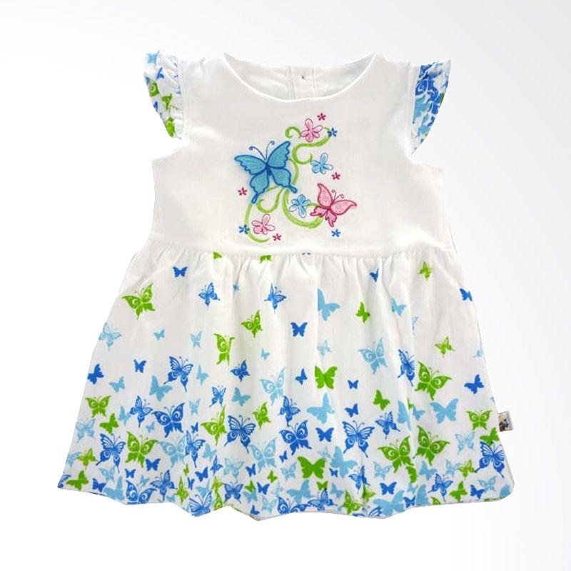 Babylon Butterfly Blue Dress Anak