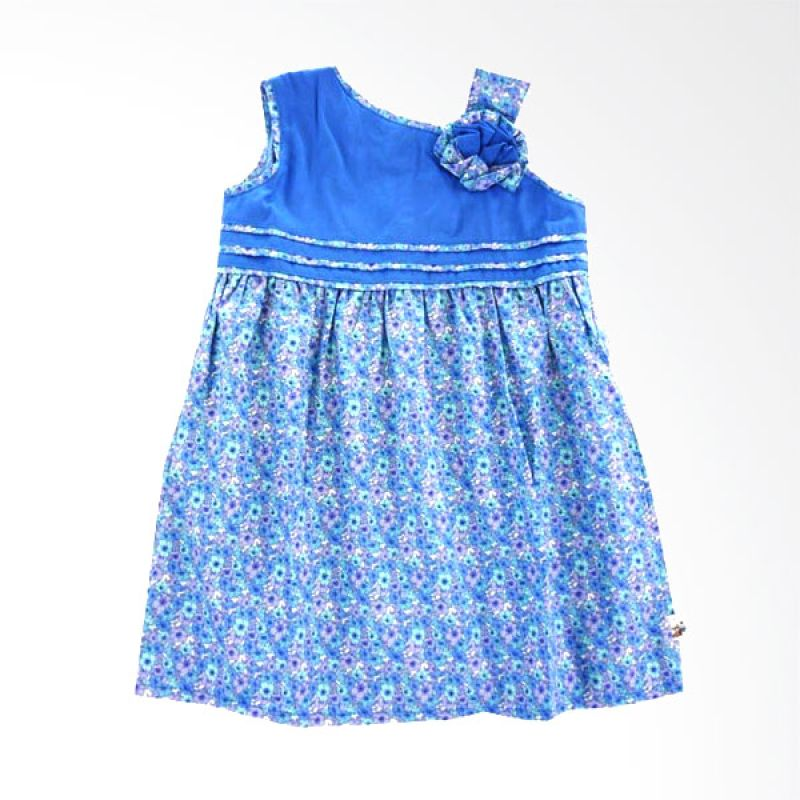 Babylon Rosalinda Biru Dress Anak