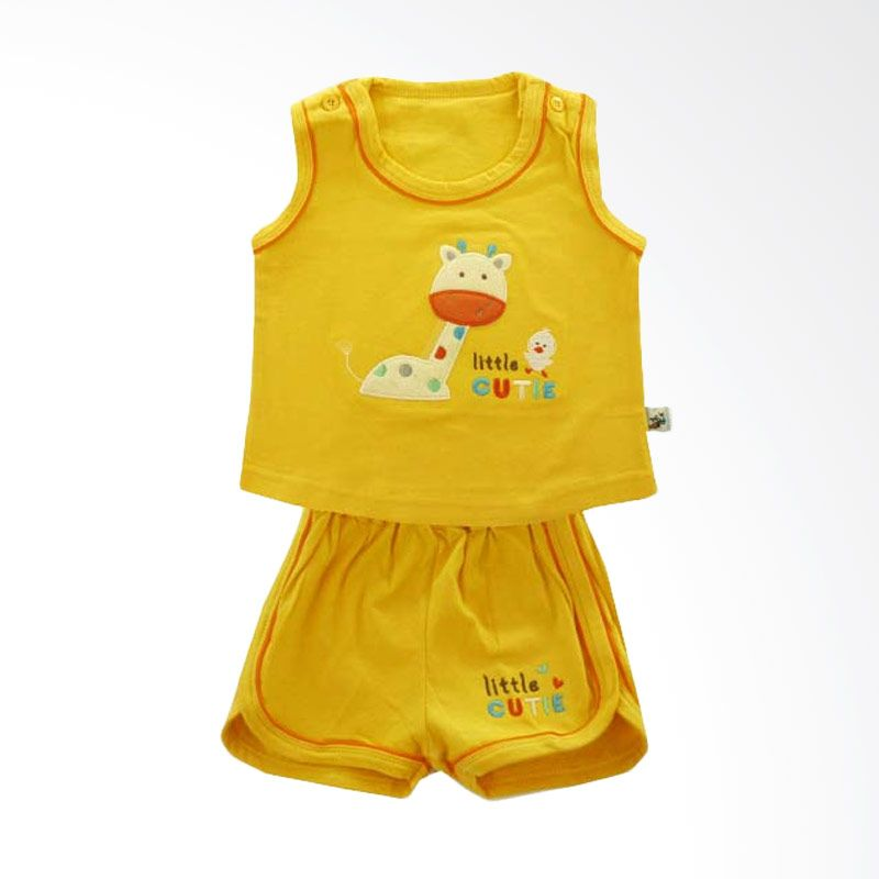 Babylon Singlet Little Cutie Yellow Setelan Anak Perempuan