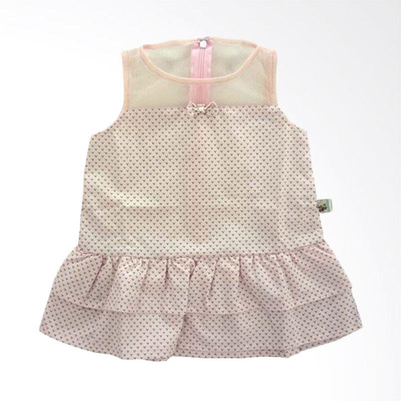 Babylon Tile Ice Princess Field Pink Baju Terusan Anak