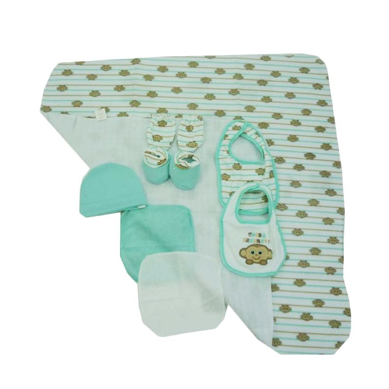 Babylonish 9 in 1 Baby Set Jala Luar Green Going Banana Selimut Bayi